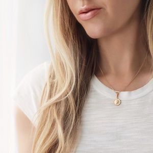 Petite Goddess Coin Necklace | 18k Gold Filled